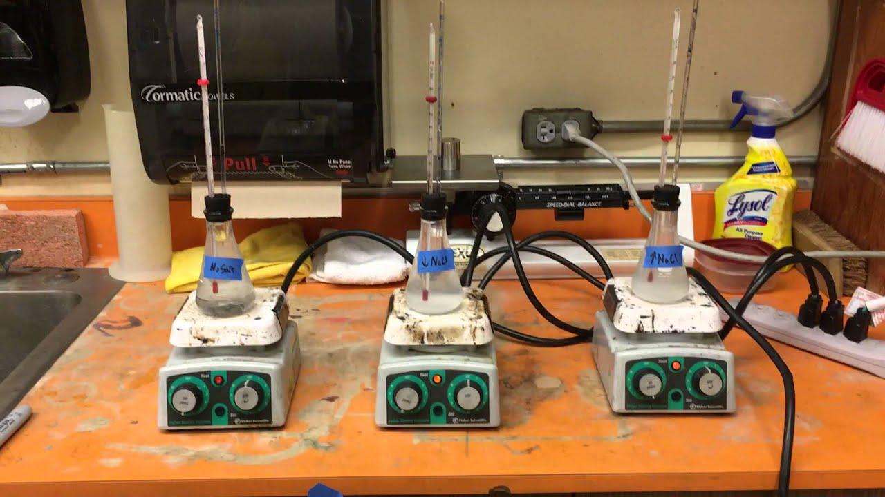 Thermal Expansion of Water & Salt Water
