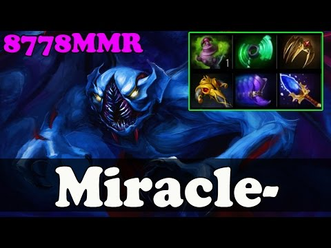 Dota 2 - Miracle- 8778 MMR Pays Night Stalker With Friends - Ranked Match Gameplay!