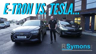 Audi E-Tron 55 review by a Tesla owner. Would I swap? Side by side comparison v Model X S 3