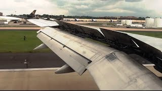 Delta 757 Cloudy and Bumpy Approach into Atlanta (KATL) *HD wingview with ATC!*