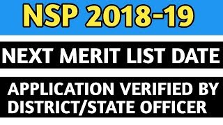 Nsp 2018 Nsp 2018-19 merit list #NSP_2018_19_MERITLIST Disclaimer- ...