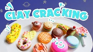Clay Cracking ASMR  | Claypopping  | Clay Cracking Cake | Ghes Handmade