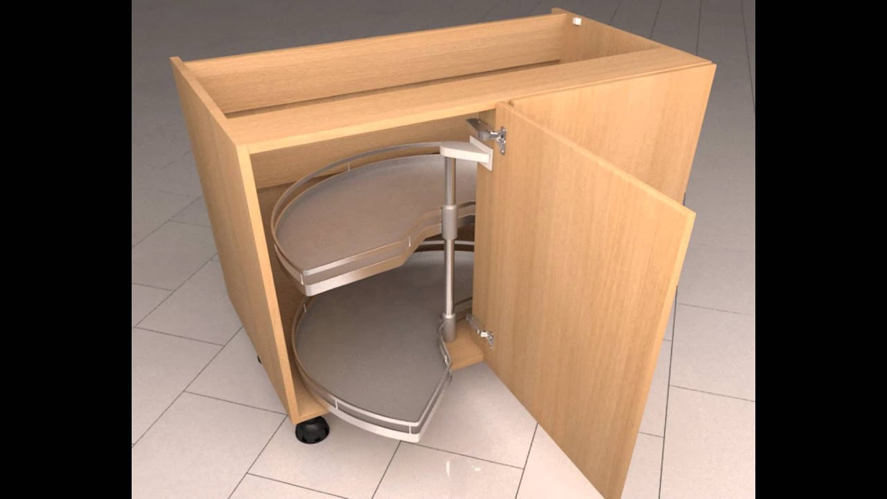Diy Kitchens.com   Corner Carousel Mechanism   YouTube