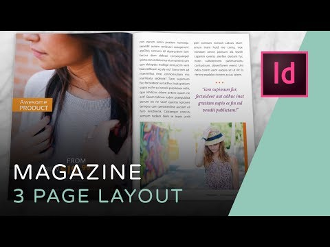 Let's Create a 3 Page Magazine Spread in InDesign // DESIGN LIKE A PRO