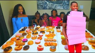 68 Donuts In 15 Min Family Challenge thumbnail