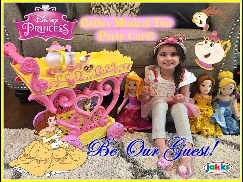 Disney Princess Belle's Magical Tea Party Cart! Your invited to Be Our Guest!! Mrs Potts & Chip