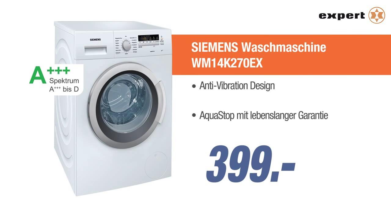 siemens waschmaschine wm14k270ex jubil ums angebot der woche youtube. Black Bedroom Furniture Sets. Home Design Ideas