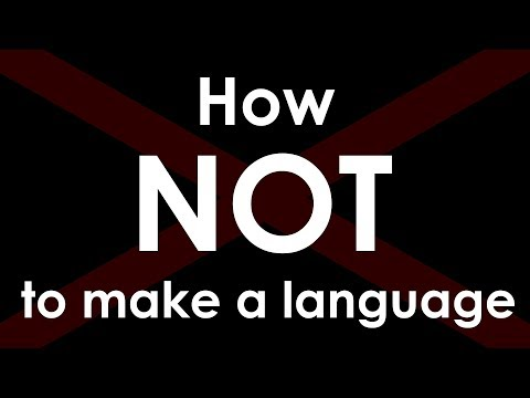 My First Conlang - How NOT to Make a Language