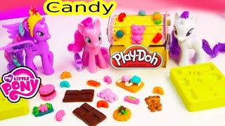 Play-doh My Little Pony Candy Playdoh Treats Mlp Pinkie Pie Princess Twilight Sparkle Toy Unboxing