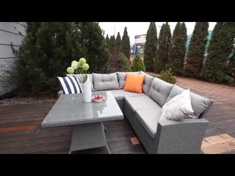 Wicker corner sofa furniture