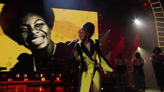 """Andra Day performs """"I Wish I Knew How It Would Feel To Be Free"""" at the 2018 Ceremony"""