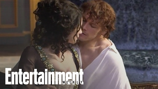 outlander behind the scenes with sam heughan caitriona balfe entertainment weekly