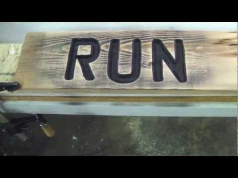 How To Make a Router Sign Idiots Guide to Wood Working - YouTube