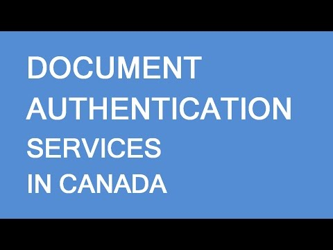 Document Authentication Services In Canada. DocService By LP Group Canada
