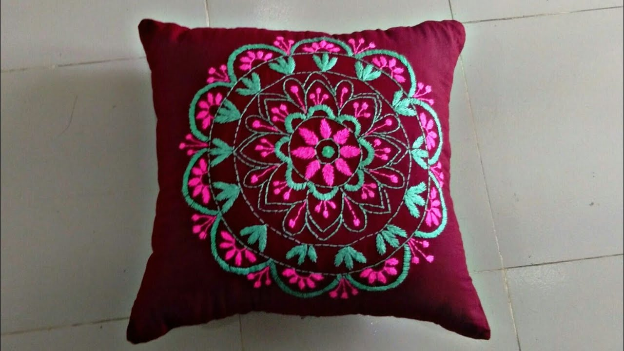 Hand embroidery cushion cover design/pillow cover