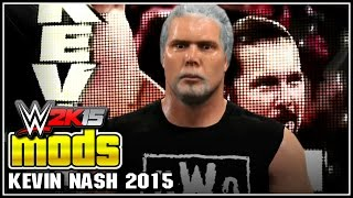 WWE 2K15 PC Mods : Real Kevin Nash mod (Grey Look 2015)