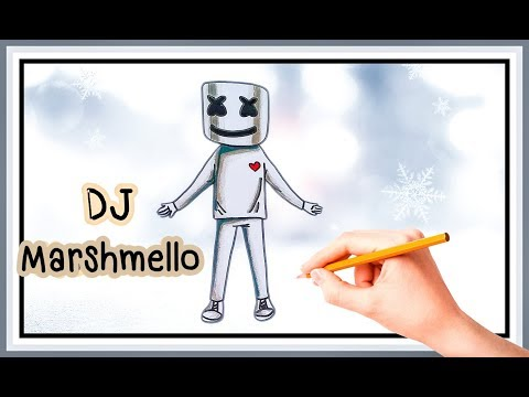 How to Draw DJ marshmello.