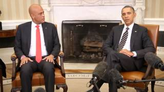 Haïti-USA : La rencontre entre Michel Martelly et Barack Obama en VIDEO