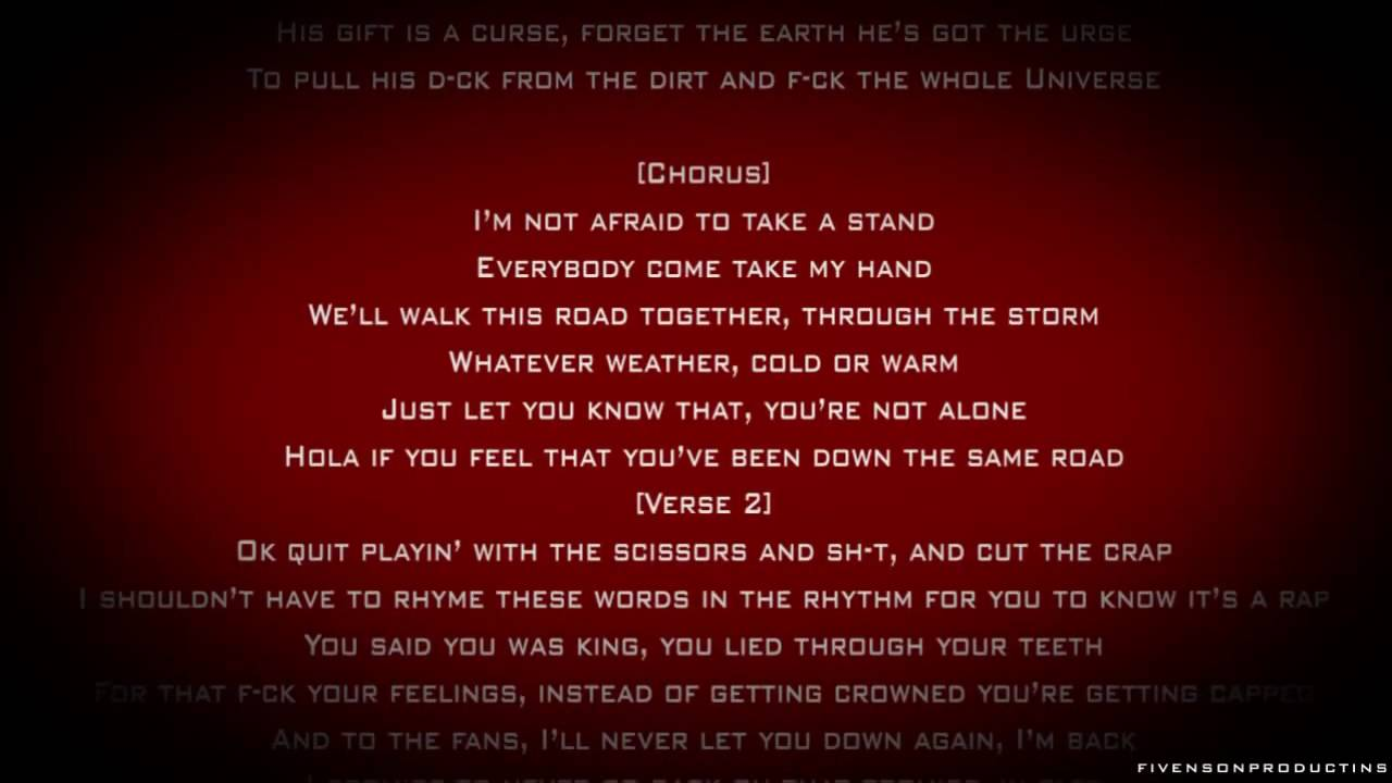 Eminem - I'm Not Afraid (SONG + LYRICS)