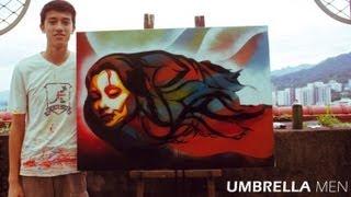 Graffiti Spray Paint Stencil Art on Canvas Vol.1 - Time Lapse