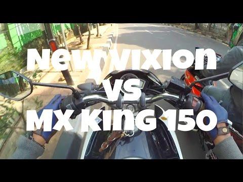 #24 ADU BALAPAN LIAR NEW VIXION VS MX KING 150 !! NGEBUT BANGET !!