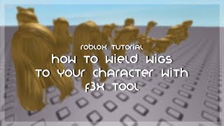 How to Wield Wigs on Your Character (EASY/FOR BEGINNERS) | Roblox Tutorial | Ariously