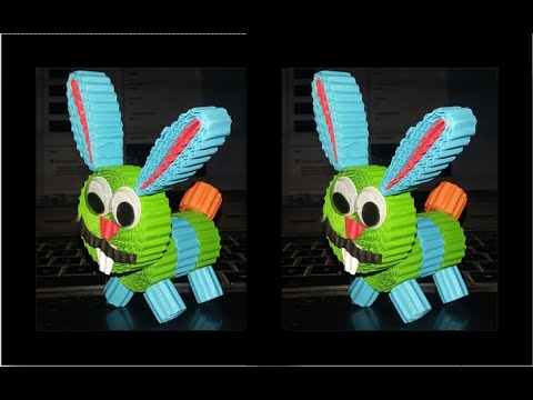 DIY Rabbit from corrugated paper / kokoru paper (easy and simple)