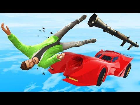 RPG vs Cars IMPOSSIBLE DODGE! - GTA 5 Funny Moments