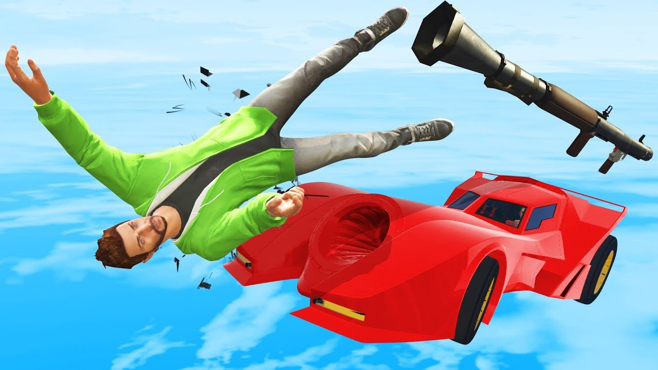 RPG vs Cars IMPOSSIBLE DODGE  GTA 5 Funny Moments  YouTube