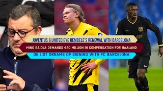 Mino Raiola's Proposal to Barcelona: €20M + €20M in Commission & €30M NET SALARY for Erling Haaland