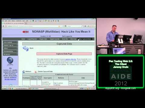 Pen Testing Web 2.0 The Client -Jeremy Druin