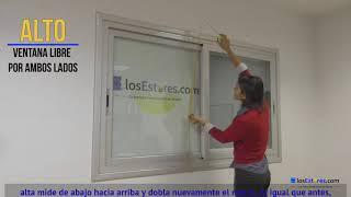 Estores fabricados en tejido Screen Pro Fibra de vidrio video