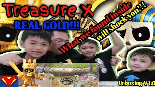 Unboxing Treasure X - Family fun - Real gold treasure