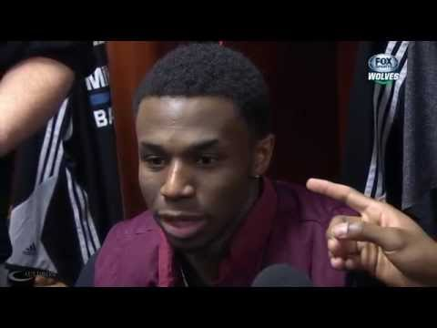 Thad Young Plays With Andrew Wiggins Ear
