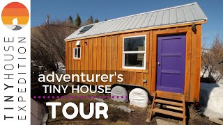 Man Builds Adventure-ready Tiny House W/ Reclaimed Materials