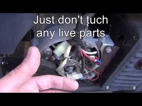 Adjust generator voltage. on