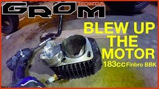 grom blows motor mid wheelie   183cc finbro bbk