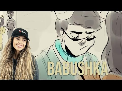 Valkyrae reacts to BABUSHKA The Movie   Among Us Animatic by Morci