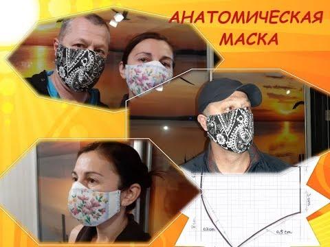 Анатомическая маска. Пошаговая инструкция + выкройка. Шьем маску вместе.
