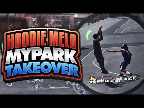 HOODIE MELO (CARMELO ANTHONY) CATCHES FIRE ON NBA 2K18 PARK! CLUTCH GAME WINNERS + CONTESTED GREENS