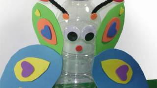 😀Recycled Kids Crafts: Butterfly in a Bottle or a Bottle Butterfly? - EP - simplekidscrafts
