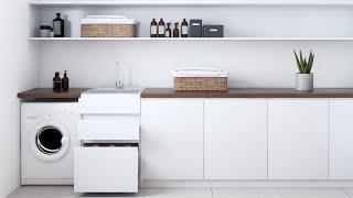 Nugleam Laundry Unit Drawer Installation & Removal Video
