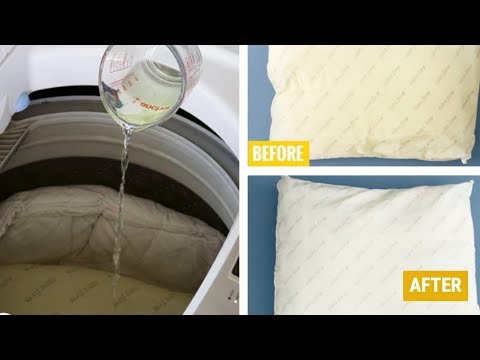 HOW TO WASH AND WHITEN PILLOWS | AMAZING RESULTS