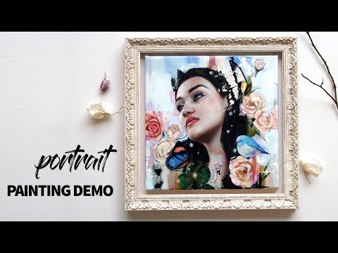 PORTRAIT PAINTING DEMO // oil painting timelapse