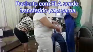 Lift guincho de transferência paciente com ELA