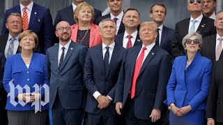 Leaders attend NATO summit in Brussels (Day 1)