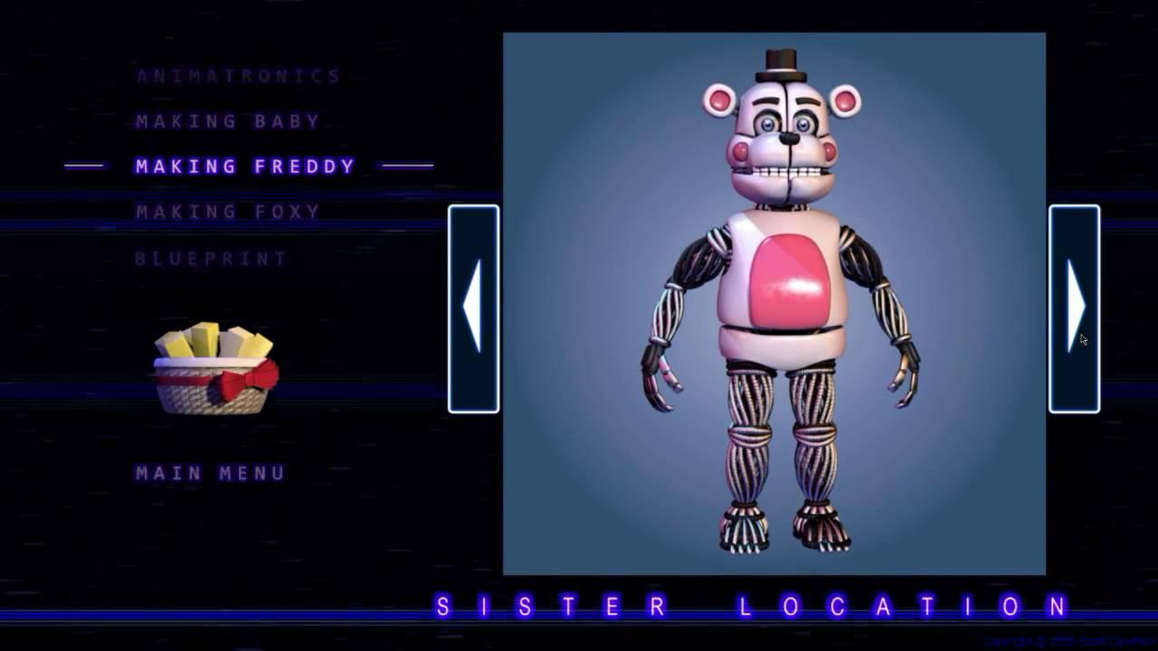 Download Five Nights at Freddy's  Sister Location All Animatronics   Secret Animatronic EXTRAS