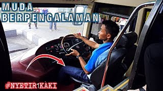 GAK SEMUA DRIVER BISA NYETIR BIS INI !! Nyetir Pakai 1 KAKI || Driver MUDA SAN