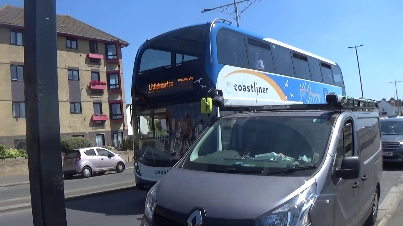 Stagecoach Coastliner Bus Route 700 Passing Hove Seafront 23rd July 2018