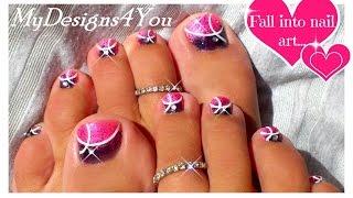Pink Toenail Art Design | How to Gradient Pedicure ♥ Розовый Педикюр Градиент